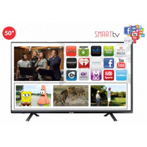 50-Inch Android Smart FHD LED TV (Smart Air Remote & Voice Control)- Black