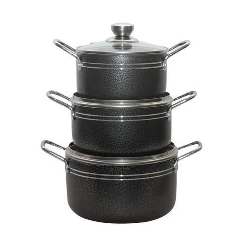 3 Pcs Non-stick Pot- Black