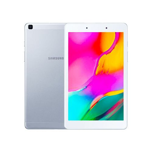 "Galaxy Tab A 8.0"" (2019, WiFi + Cellular) 32GB+2GB RAM, 5100mAh Battery, 4G LTE (Makes Calls) SM-T295,-Silver"