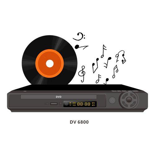 LLoyd DVD Player DV6800 With USB-Black HDMI With MP3