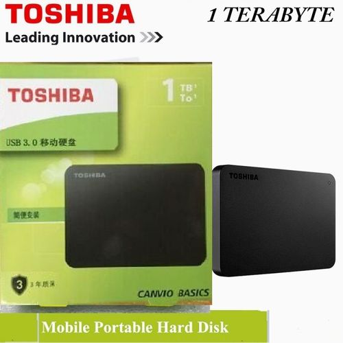 1TB Portable External Hard Disk Drive ABS Case HDD - Black