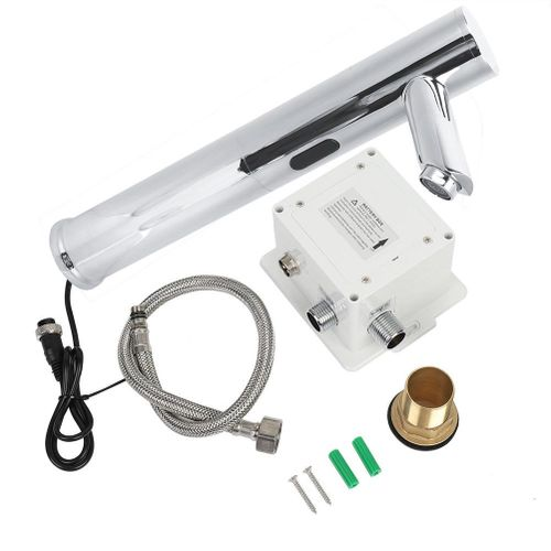"G1/2"" Automatic Sensor Faucet Hands Free Bathroom Medical Sink Mixer Water Tap"