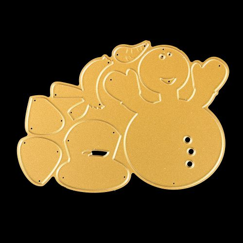 Merry Christmas Metal Cutting Dies Stencils Scrapbooking Embossing DIY Crafts Gold