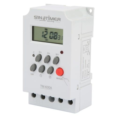 TM630A Programmable Time Relay 12V DC/AC220V Mini LCD Digital Microcomputer Control Power Timer Switch