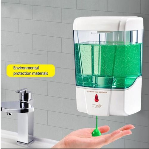 700ML Automatic Infrared Sensor Hand Sanitizer Motion Activated Hand-free Soap Dispenser Sensor Alcohol Sterilizer Wall Mounted For Home Company Hospital School