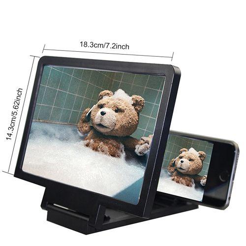 3D Phone Screen Enlarger Amplifier 3D Phone Projector Case