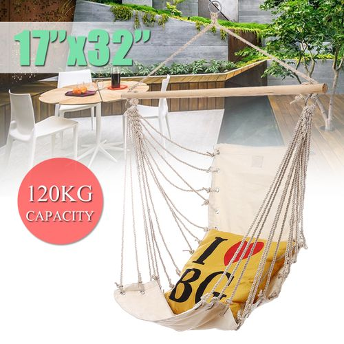 Garden Hammock Hanging Chair Rope Swing Seat Outdoor Patio Home Christmas Gift