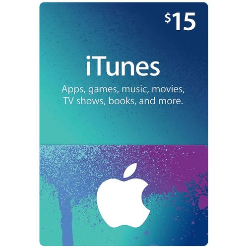 Apple ITunes 15 USD Apple Store Credit / Prepaid Card