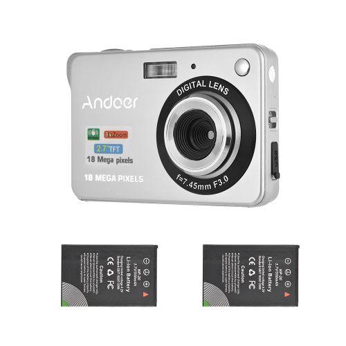 Andoer 18M 720P HD Digital Camera Video Camcorder With 2pcs