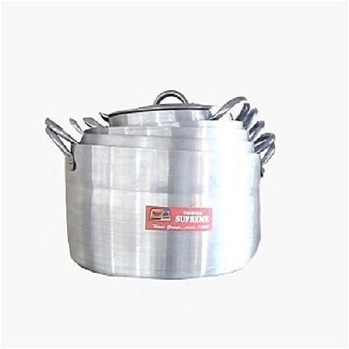 Tower Five Set Of Supreme Tower Pot- Silver