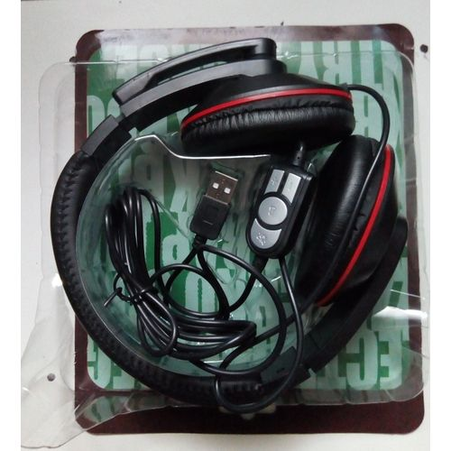 HU-728 USB Headphone Digital With Volume Control Stereo Game