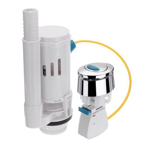 UNIVERSAL DUAL FLUSH DROP VALVE FOR CONCEALED CISTERN TOILET 570mm LONG CABLE.
