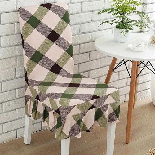 Elegant Flower Elastic Stretch Chair Seat Cover With Skirt Hem Dining Room Home Wedding Decor