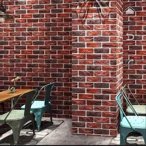 Modern 3D Bricks Wall Paper - 1 Roll Of 5.3 Sqm