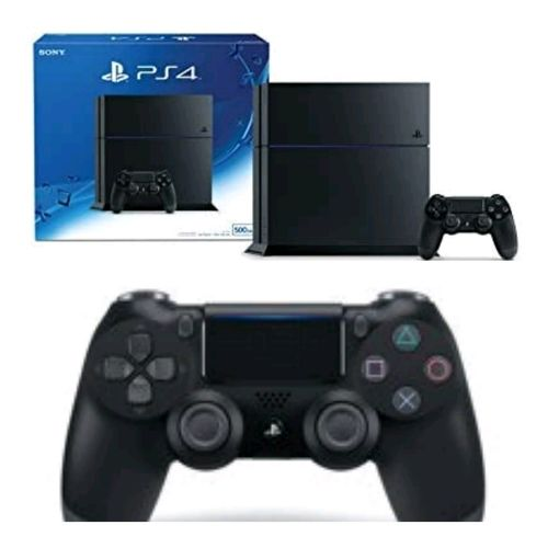 Sony Play Station 4 - 500GB Console Black Plus 2 Control Pads
