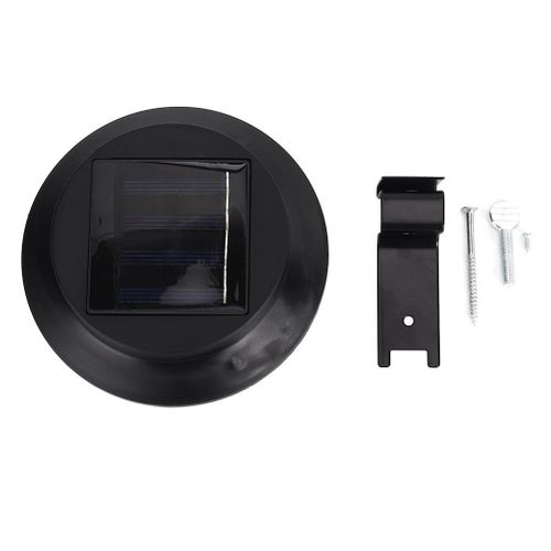 2V/120MA Polysilicon Solar Panels LED Induction Wall Lamp Waterproof Light Fence Night Light Outdoor (Black Casing White Light)