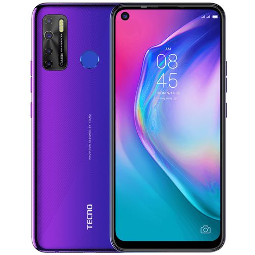 Camon 15 - Dual - 64GB ROM - 4GB RAM - 4G LTE - 48mp - 6.6''- 5000mAh - Fingerprint Fascinating Purple