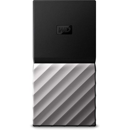 WD - 2TB My Passport SSD External Portable Disk Black Silver