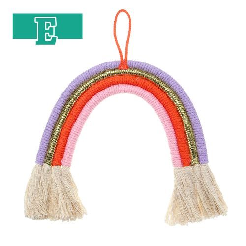 Rainbow Wall Hanging Ornament Nordic Style Cotton Tapestry Curtain Tassel Decor
