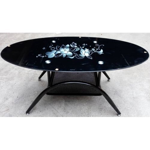 Oval Shaped Centre Table - Black