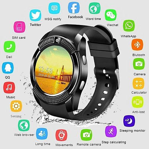 Bluetooth Waterproof Sport Smartwatch With Camera Sim Card