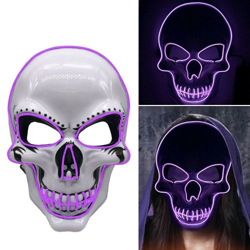 LED Glowing Mask Fluorescent Mask Halloween Party Scary