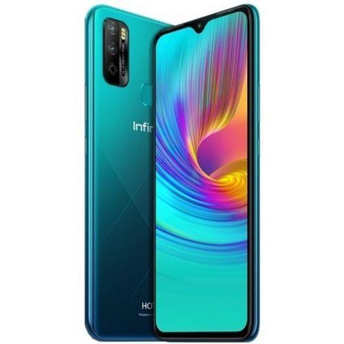 "Hot 10 Lite (X657B) 6.6"" HD+, 2GB RAM + 32G RAM, Android 10, 13MP Triple Camera, 5000mAh, 4G, Fingerprint - Quetzal Cyan"