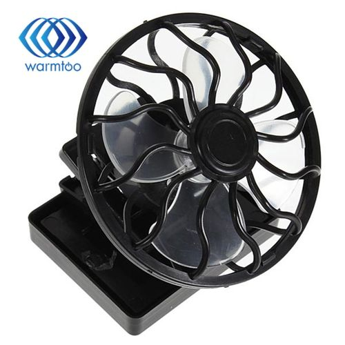 Clip-on Solar Cell Fan Sun Power Energy Panel Cooling Hat High Quality Cooler For Camping Hiking Black Portable