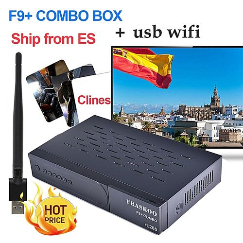FRASKOO F9 Plus COMBO Satellite Receiver Digital DVB T2 DVB-S2 Full HD 1080p Support H.265 Support CCcam With USB Wifi