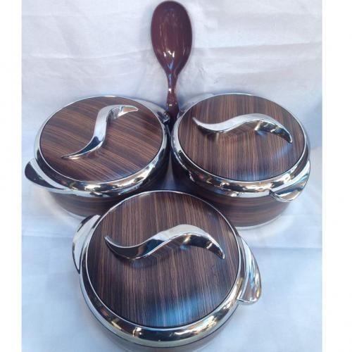 3 Pcs Set Of Insulated Hot Pot