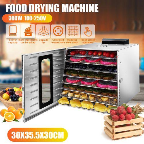 8 Tray Food Dehydrator Jerky Fruit Drying Dryer Maker
