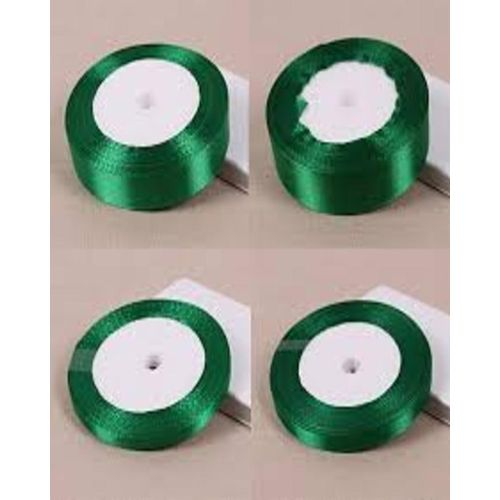 5 Rolls Of Green Colour Ribbons To Decorate All Event Place