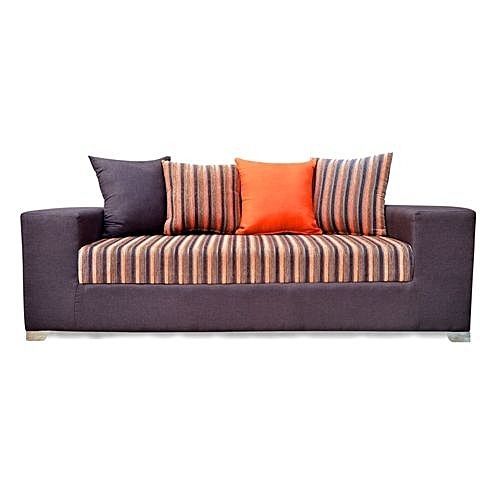 7 Seater Sofa -BROWN/ORANGE with A FREE OTTOMAN' (Delivery To Lagos Only)