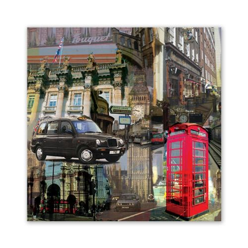 Canvas Wall Printed London Street Scenery Landscape Pattern Inkjet Oil Spray Painting Art Home Living Room Office Decor