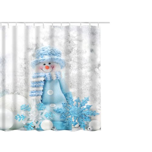 Dtrestocy Christmas Waterproof Polyester Bathroom Shower Curtain Decor With Hooks 65x71''