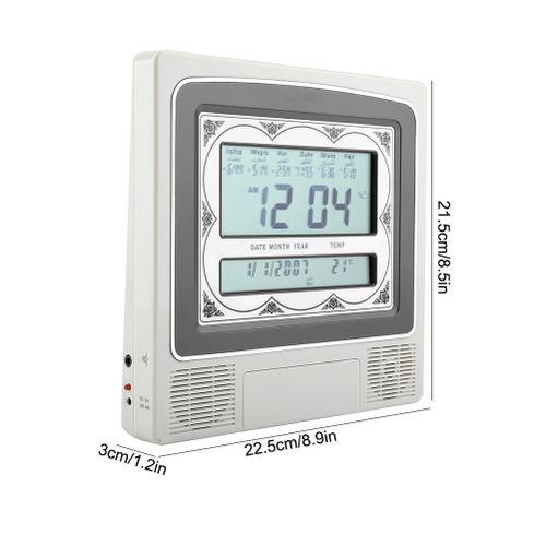 LCD Automatic Islamic Muslim Prayer Azan Alarm Clock Wall-mounted Clock