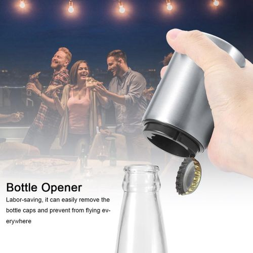 Automatic Stainless Steel Wine Beer Bottle Caps Opener Soda Glass Cap Remover Open Tool