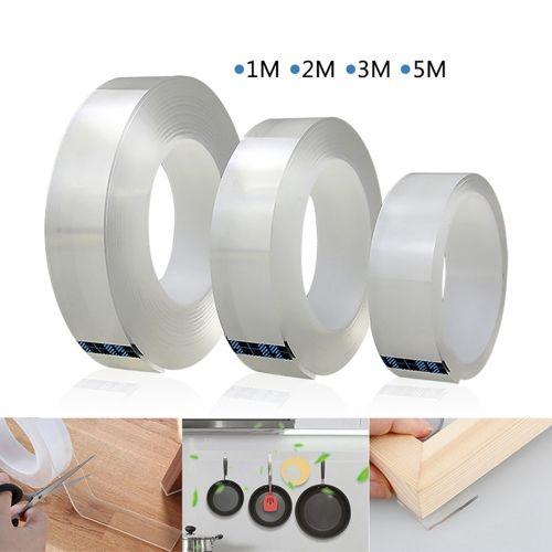 Traceless Reusable Washable Tape Double Sided Self Adhesive
