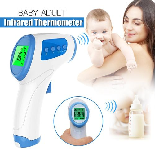 LCD Adult Baby Digital Body Temperature Medical IR Infrared Ear Thermometer Safe Blue