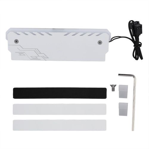 White Memory Vest Cooling Heatsink RGB Light Glowing Cooler Heat Sink 3PIN Radiation