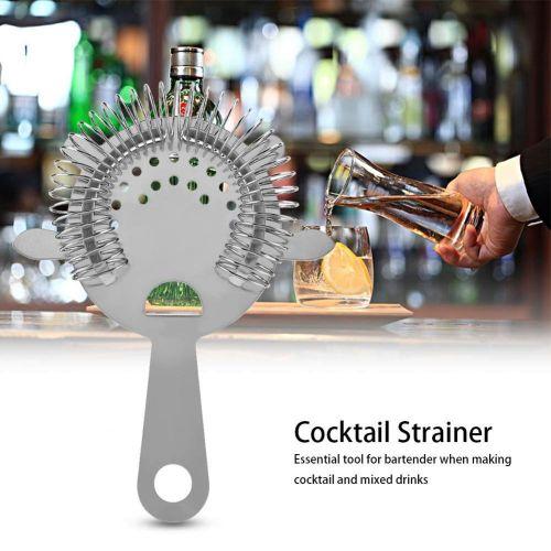 Stainless Steel Cocktail Drinks Drainer Filter Beverage Filtering Tool For Bar Restaurant Home