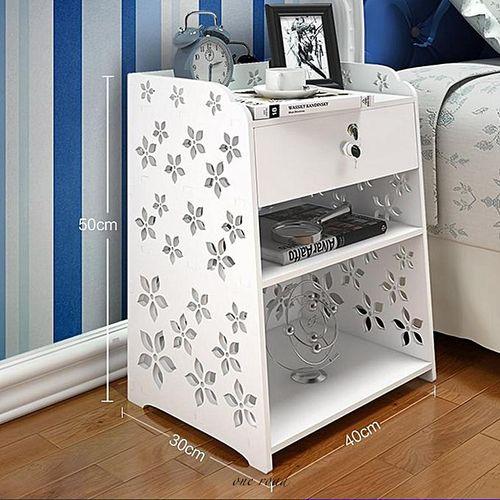 Bedroom Bedside Cabinet Finishing Bedside Cabinet With Drawer White 40X30X50Cm