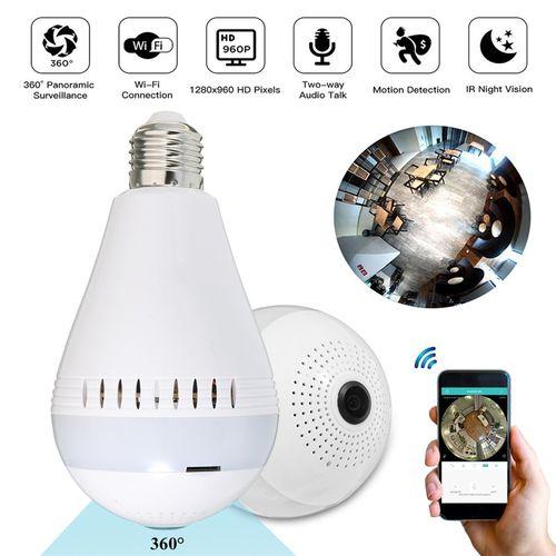 Mini Security IP Camera 360? Panoramic Hidden 960P Wifi Wireless Light Bulb Lamp