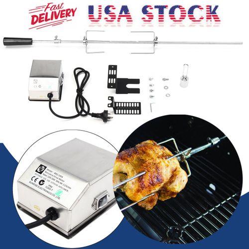 Rotisserie Grill BBQ Roaster Chicken Spit Rod Universal Electric Motor Kit