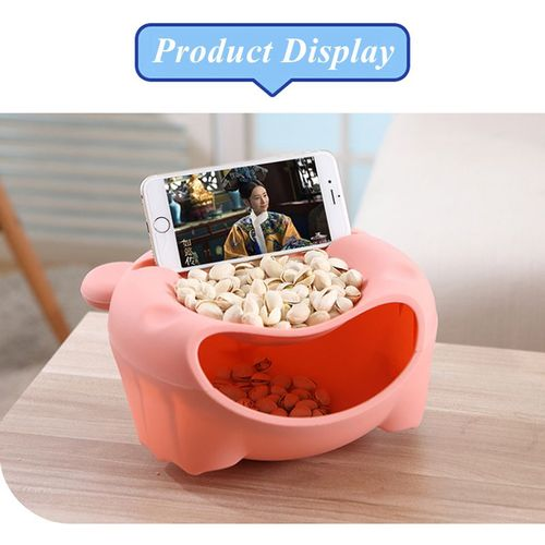 Double Layer Food Waste Storage Holder Container Home Organizer