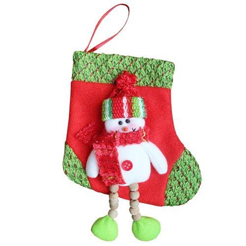 Christnas Pull Flannel S Size Stocking Socks Hanging Ornament Decoration 19cm