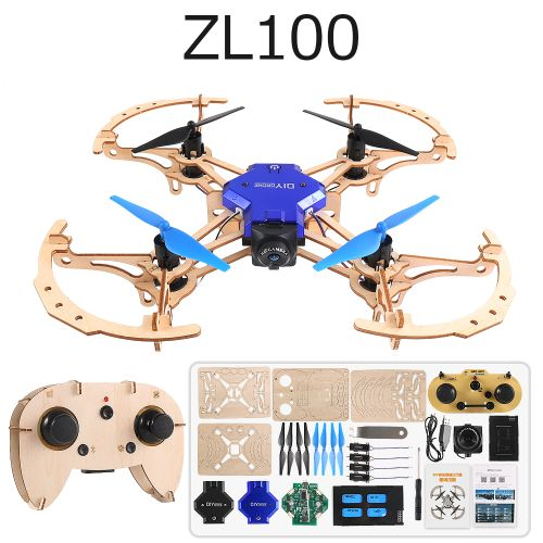 DIY Wooden Aircraft Kid's Gift WIFI Remote Control Aircraft