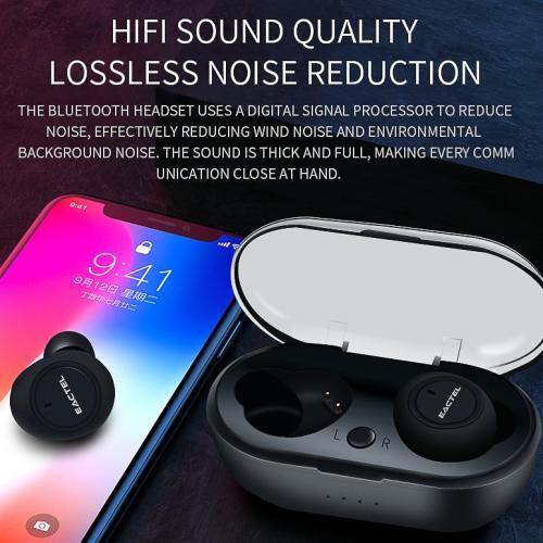 Wireless Bluetooth Earpiece (Charging Case)-Black