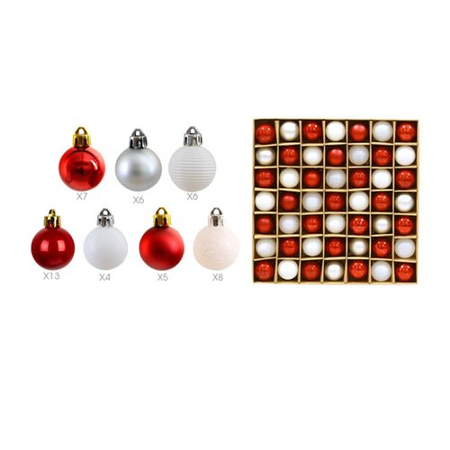 49 Pcs Christmas Decor Ball Ornaments Shatterproof Balls