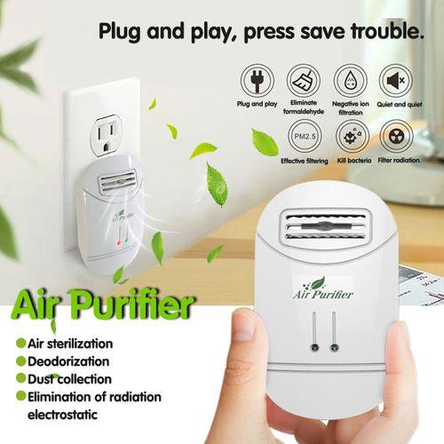 UK Home Active Carbon Filter Air Purifier Ionizer Allergen Odor Remover